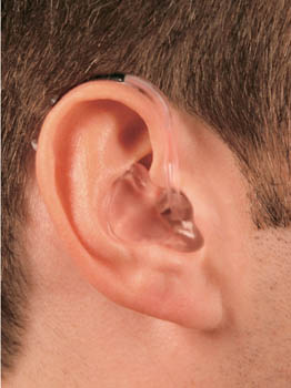 hearing instrument power behind the ear
